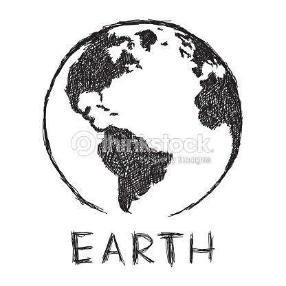Dibujo De Planeta Tierra Arte Vectorial Thinkstock