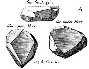 Drawing of the French Blue from Tavernier