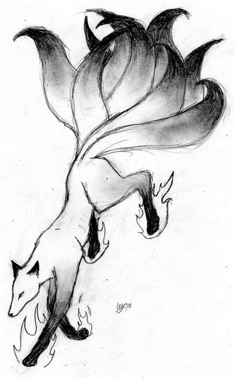 kitsun kitsune  fox spirits fox art sketches