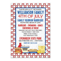 4th of July Family Reunion Invitation