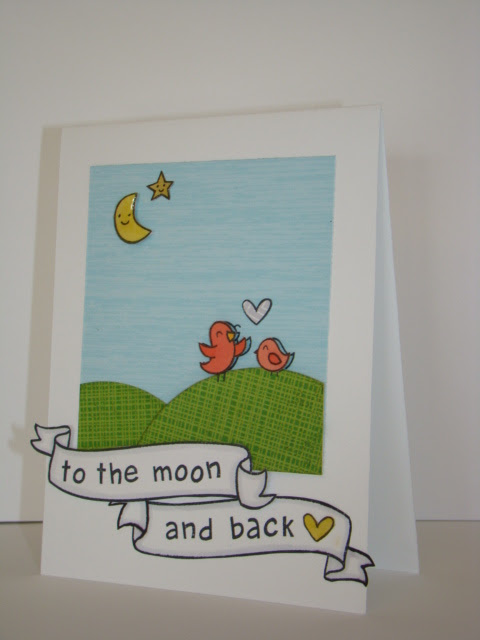 to the moon and back card - ls