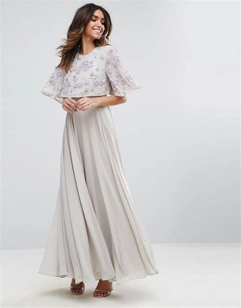 Asos Embellished Flutter Sleeve Maxi Dress   Dresses to