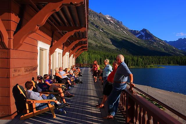 IMG_1435 Tourists at Many Glacier Hotel
