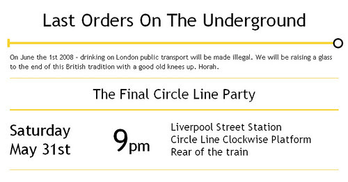 Last Orders on the Underground