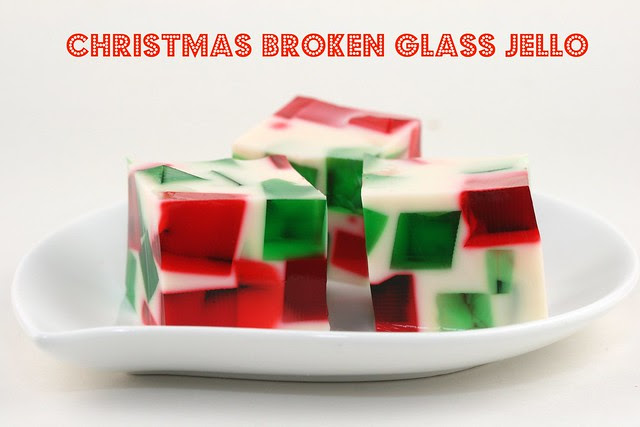 Broken Glass Christmas Jello - Food Librarian