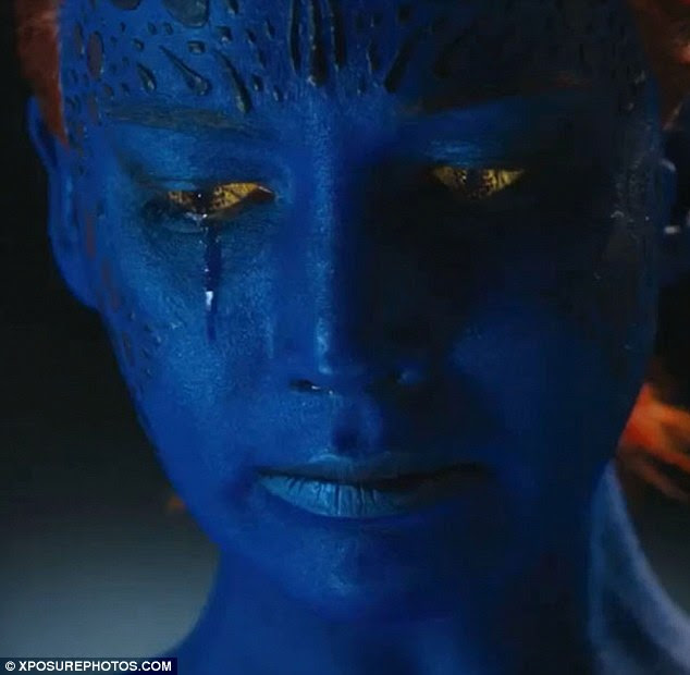 Out next year: Jennifer Lawrence as a young Mystique was shown in a teaser for X-Men: Days Of Future Past released in October