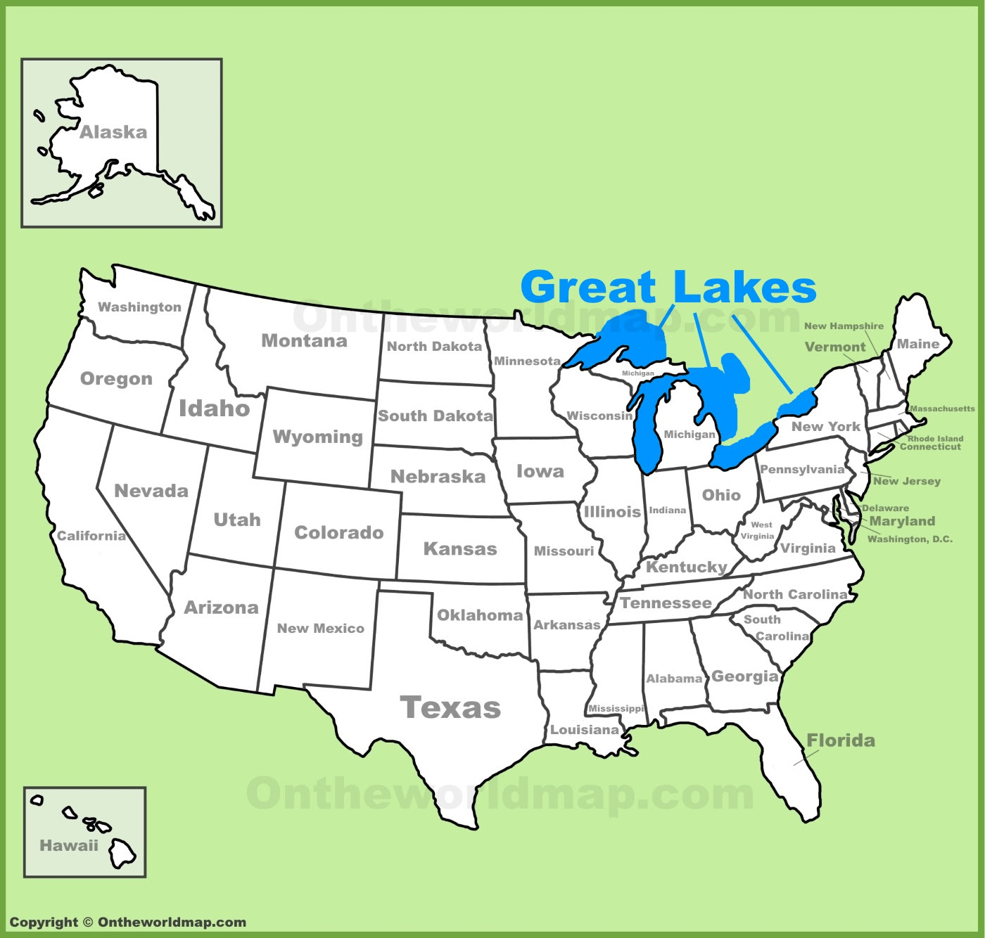 United States Map Great Lakes | Campus Map