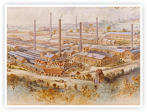 A portrait of Bournville. George Cadbury wanted to build a place full of green spaces, where industrial workers could thrive away from city pollution.