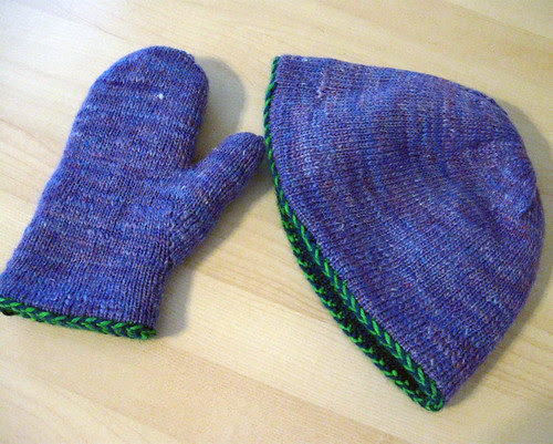 End of May hat and mittens