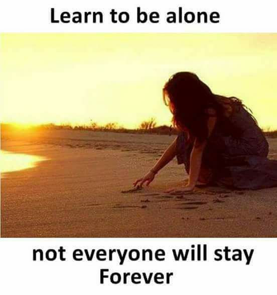 Learn To Be Alone Inspirational Quotes Pictures Motivational