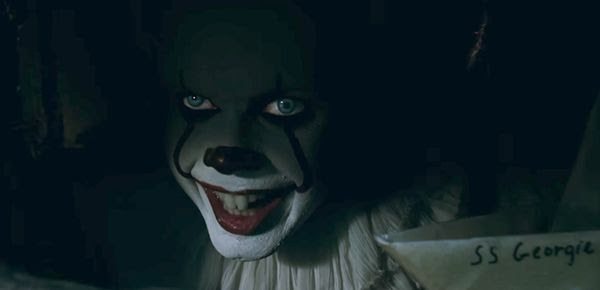 Pennywise the Dancing Clown (Bill Skarsgård) lurks in the sewers of Derry, Maine, in the big-screen adaptation of the Stephen King novel IT.