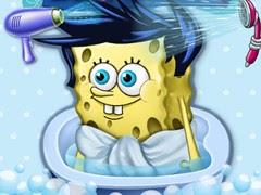 سبونج بوب استحمام الطفل