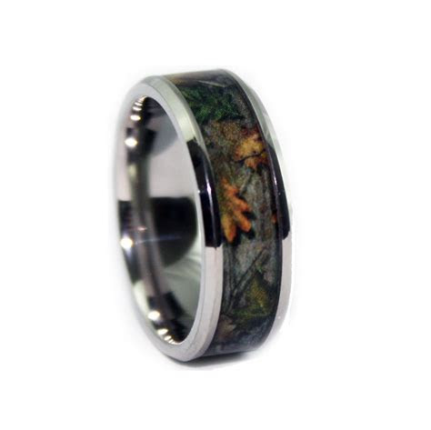 Camo Wedding Rings   Bevel Titanium Band by #1 CAMO