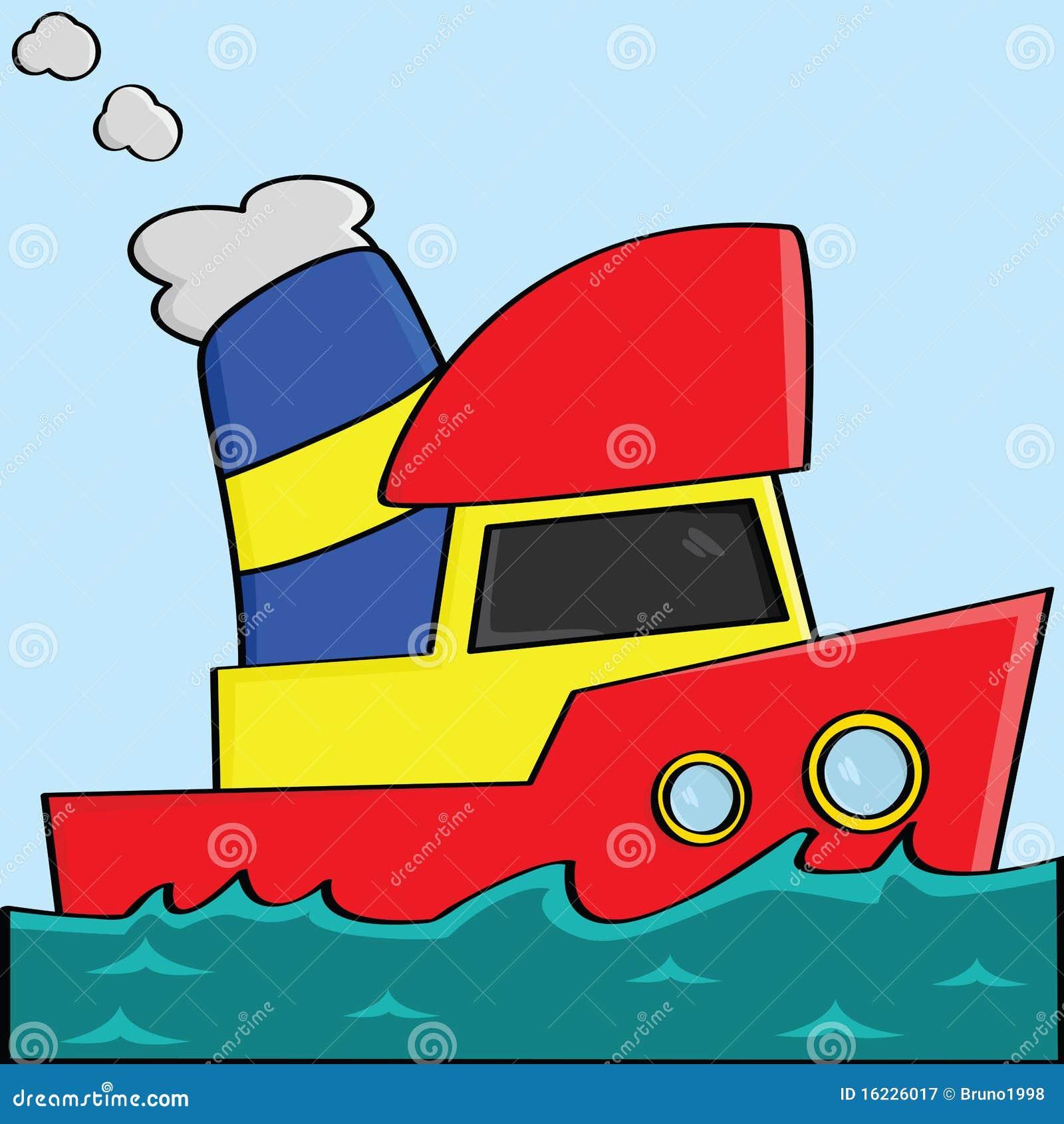 Cartoon Boat Royalty Free Stock Photography - Image: 16226017