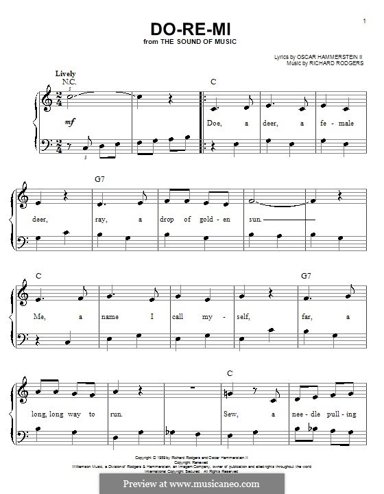 Do-Re-Mi (from The Sound of Music) by R. Rodgers - sheet music on MusicaNeo