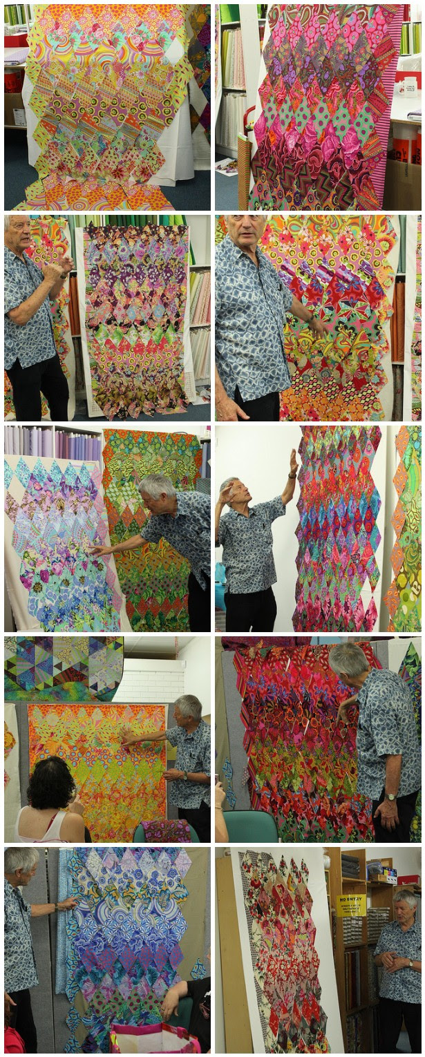 Kaffe Fassett workshop quilts