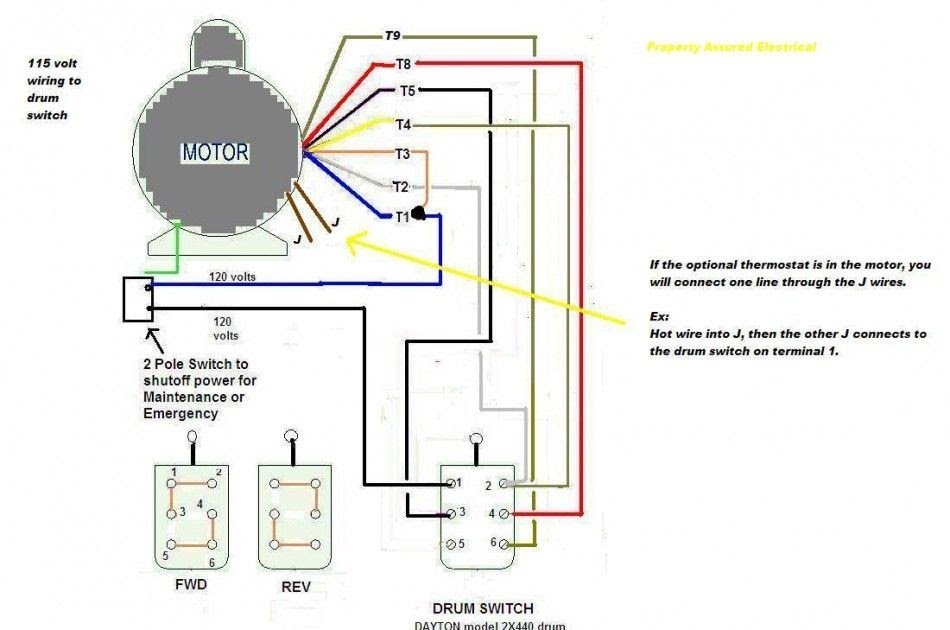 Three Wire Electric Motor Capacitor Wiring Diagram