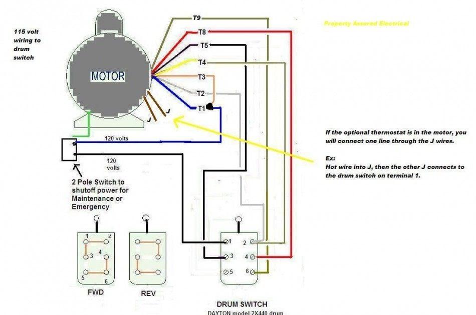 Capacitor Electric Motor Wiring Diagram Single Phase