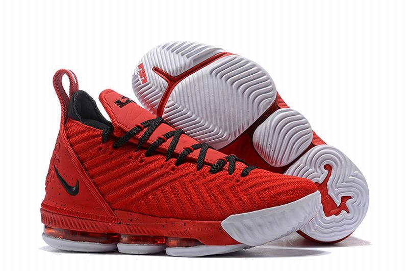 Nike Lebron James 16 Air Cushion Shoes Red White Black-logo