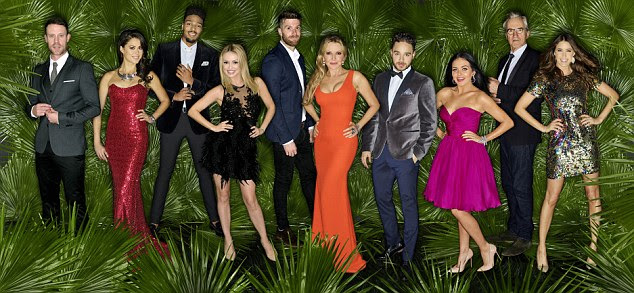 Take a last look at glamour: The celebs seem ready and raring to go, but there will no doubt be a few surprises lurking inside the jungle for them