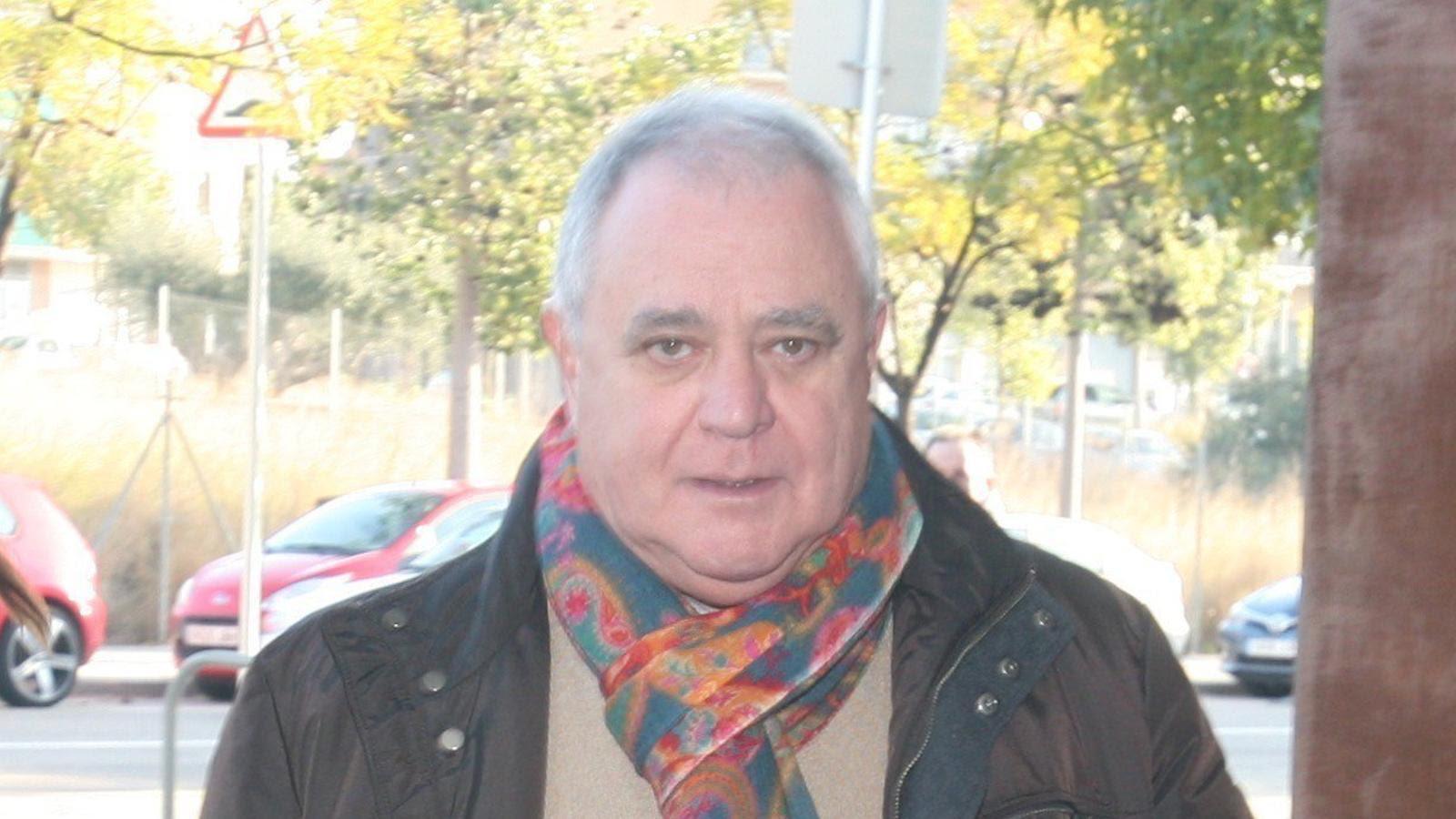L'extresorer de CDC Andreu Viloca, aquest dimecres arribant al jutjat a El Vendrell