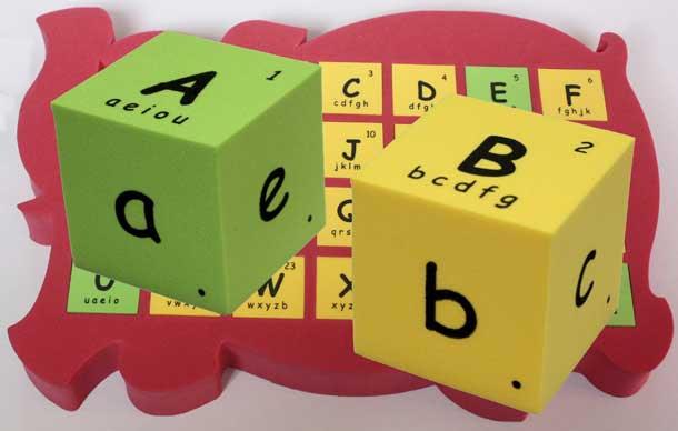 象盒子 麻辣拼盤 ABC 英文字母拼字 英語自然發音骰子
