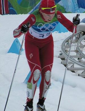 English: Kikkan Randall at the Ladies' 30 km m...