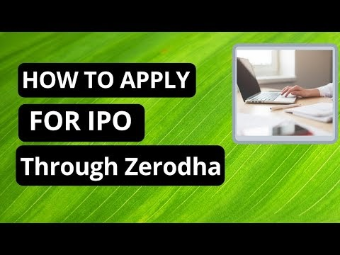 How to apply for IPO through Zerodha with UPI