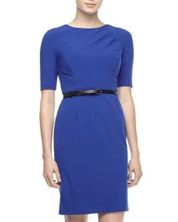 Ivy and Blue Bi-Stretch Belted Dress