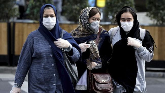 Corona di Iran Meningkat, Korban Jiwa Sampai 54 Orang