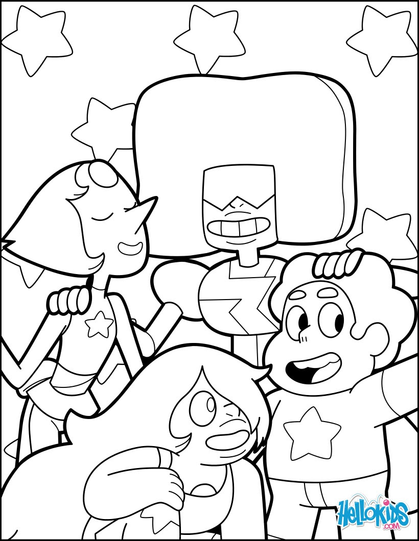 Steven And The Crystal Gems Coloring Pages Hellokidscom