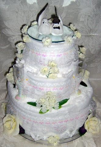 Wedding Towel Cake 3 Tier JUNE BRIDES