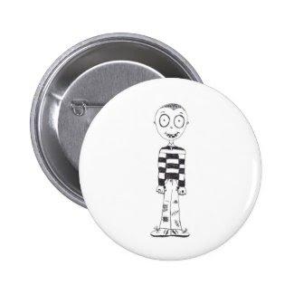 The creepy boy pinback button