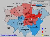 Forecast for London (Constituencies, Coloured By Percentage Lead)