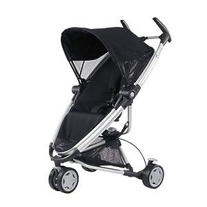 Quinny 72902970 - Zapp Xtra, praktisches Travelsystem inklusive Einkaufskorb, Sonnenverdeck, Regenverdeck und Adapter für die Babyschale, Rocking Black