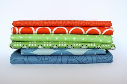 Red-orange, Green, Blue by jenib320
