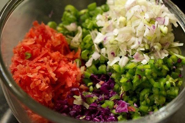 veggies for dry veg manchurian recipe