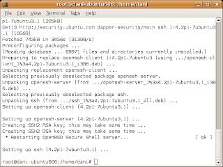 timbul keinginan untuk mencoba mengakses shell Ubuntu dari Windows XP Mengakses Shell Ubuntu dari Windows XP