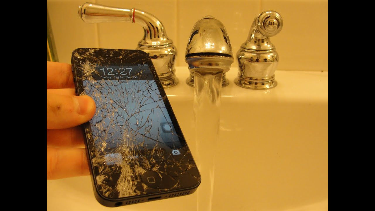 iPhone 5 Water Damage Drop Test -Episode #5- - YouTube