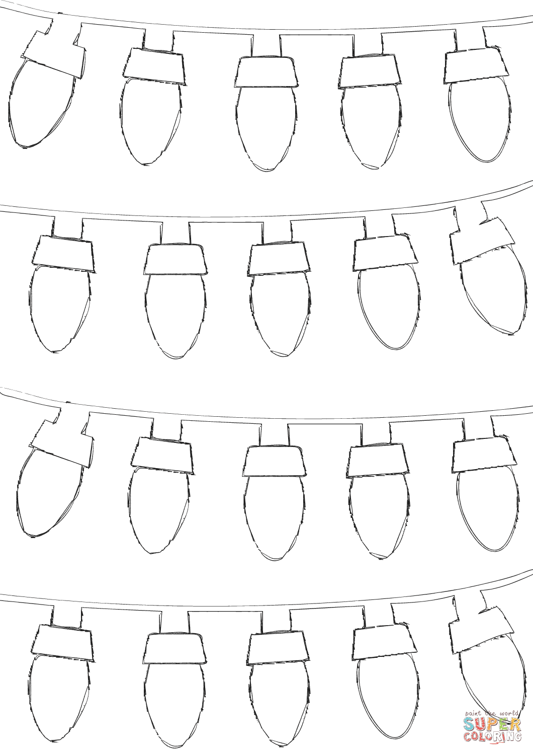5800 Free Coloring Pages Christmas Lights For Free