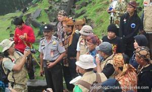 Mendikbud di situs Gunung Padang 20 Juni 2013