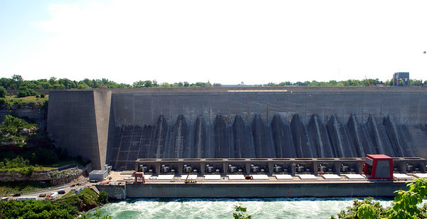 The Robert Moses Niagara Hydroelectric Power Station, a hydroelectric power station in Lewiston, New York near Niagara Falls.