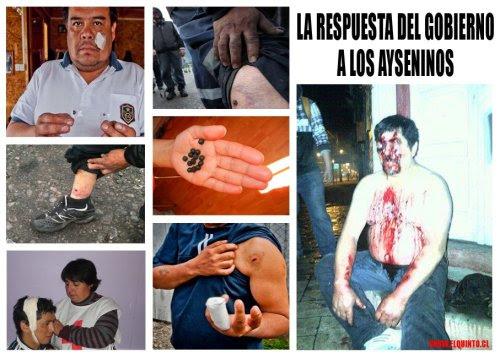 Imágenes del diálogo del gobierno con los manifestantes en Aysén