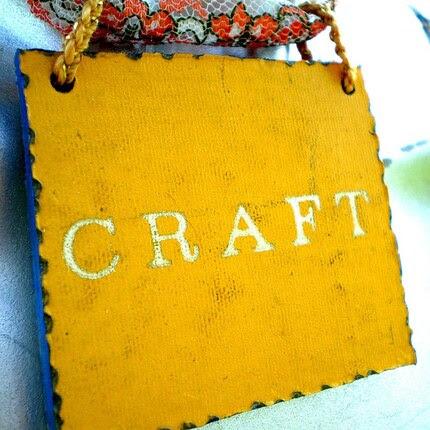 Craft -- Collage pendant necklace -- Rabbit rescue donation