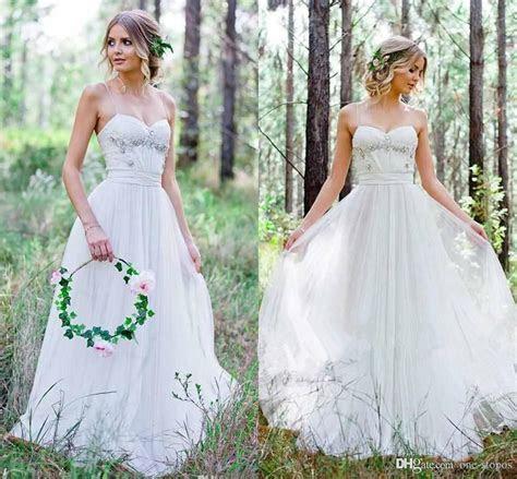 Discount 2017 Cheap Country Wedding Dresses A Line Chiffon