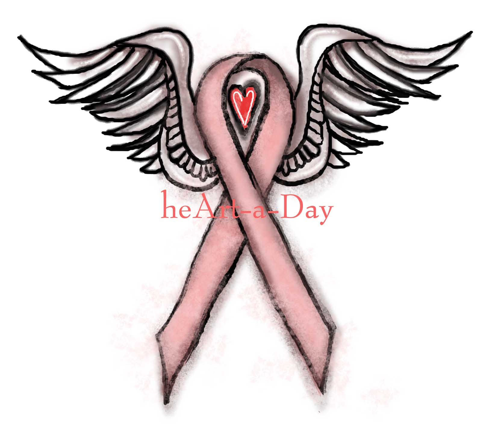Cancer Ribbon Drawing At Getdrawingscom Free For Personal Use