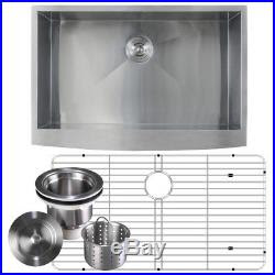 16 Gauge Stainless Steel Apron Front Farmhouse Kitchen Sink