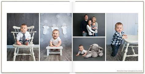 First Year Baby Album   Plumeria Album Design