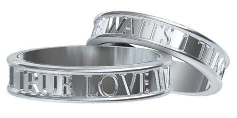 Christian Purity Rings Set True Love Waits Custom Made In
