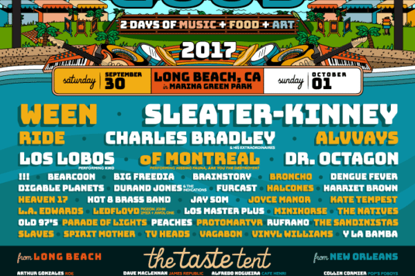 Music Tastes Good 2017 Menu Will Feature Ween, Slater-Kinney, Ride, Of Montreal, and Charles Bradley